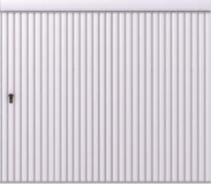 Brama przesuwna podwieszana jednoskrzydłowa wypełniona blachą T-10, układ wypełnienia pionowy skal
