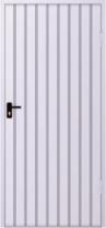 Drzwi stalowe wypełnione blacha trapezową T-10, układ wypełnienia pionowy skal